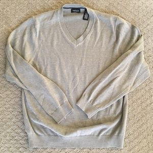 Men's Grey V Neck Sweater